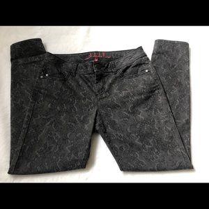 Elle Lace Print Skinny Jeans
